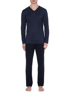 ZIMMERLI Stripe-print cotton pyjama set