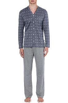 ZIMMERLI Mini dogtooth check pyjama set