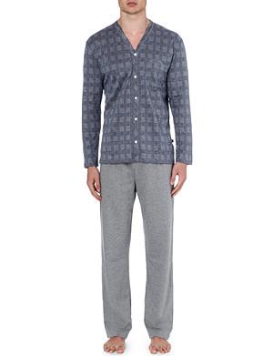 ZIMMERLI Mini dogtooth check pyjama set