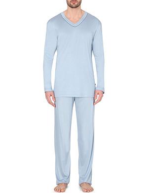 ZIMMERLI Jersey piped pyjama set
