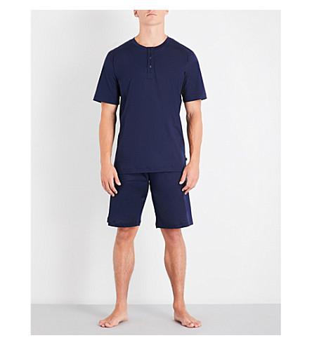 ZIMMERLI Sea Island cotton-jersey pyjama set (Navy