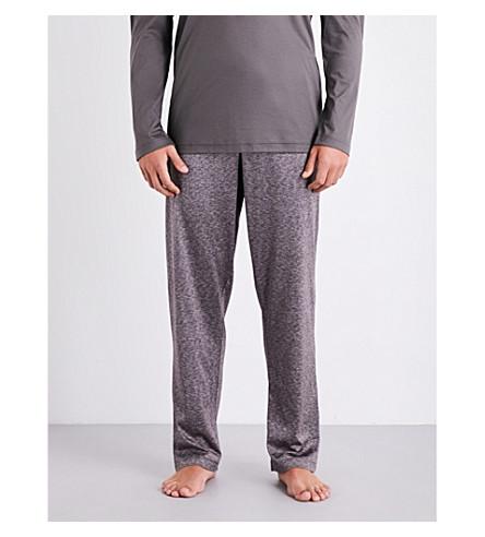 ZIMMERLI Nailhead-pattern cotton and silk-blend pyjama trousers (Mink