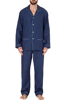 ZIMMERLI Plain trim pyjama set