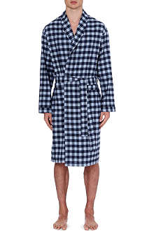 ZIMMERLI Plaid flannel robe