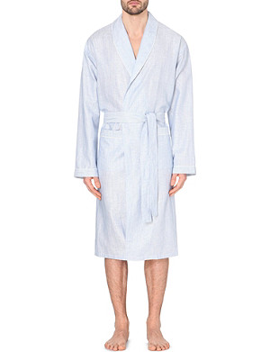 ZIMMERLI Linen and cotton-blend dressing gown