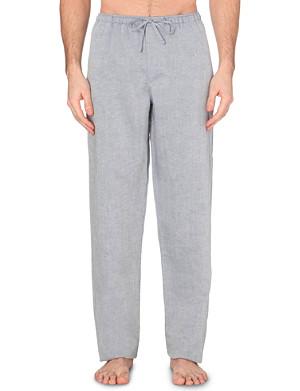 ZIMMERLI Linen-blend trousers