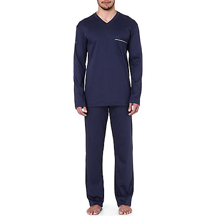 ZIMMERLI Cotton pyjama set (Navy