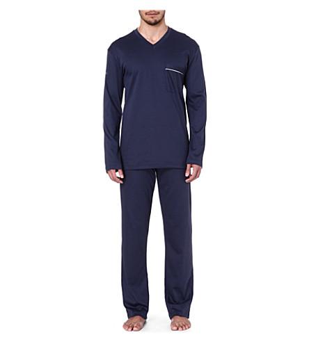 ZIMMERLI Cotton pyjama set (Navy