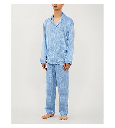 ZIMMERLI圆点丝绸睡衣 (幻想 + 蓝色