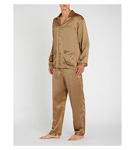 ZIMMERLI Polka-dot silk pyjamas (Gold