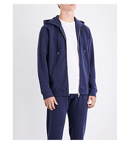 SUNSPEL Zip-up loopback cotton-jersey hoody (Navy