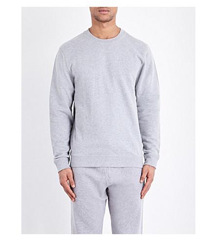 SUNSPEL Mouline loopback cotton-jersey sweatshirt (Grey+melange