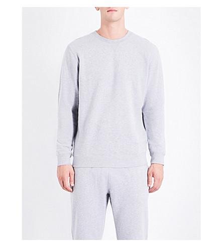 SUNSPEL Mouline loopback cotton-jersey sweatshirt (Lt+grey