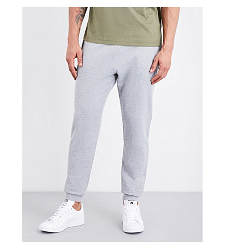 SUNSPEL Tapered loopback cotton-jersey jogging bottoms (Grey+melange