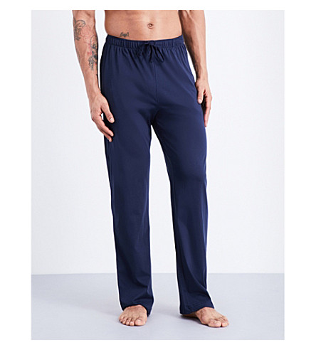 SUNSPEL Straight-leg cotton-jersey jogging bottoms (Navy