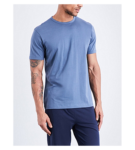 SUNSPEL Crewneck cotton-jersey t-shirt (Blue+slate
