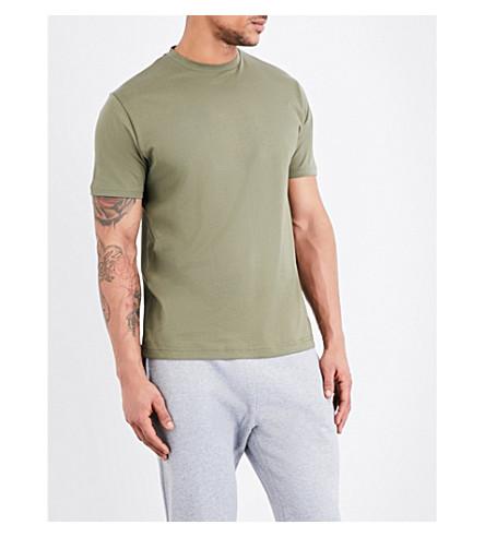 SUNSPEL Crewneck cotton-jersey t-shirt (Khaki+green