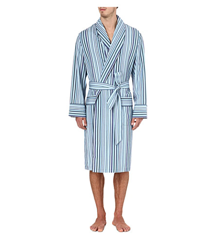 PAUL SMITH Multi-stripe dressing gown (Blue