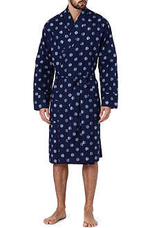 PAUL SMITH Striped polka-dot cotton robe