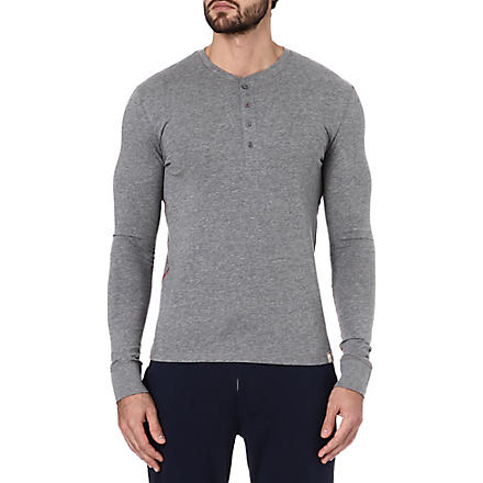 PAUL SMITH Henley cotton top (Grey
