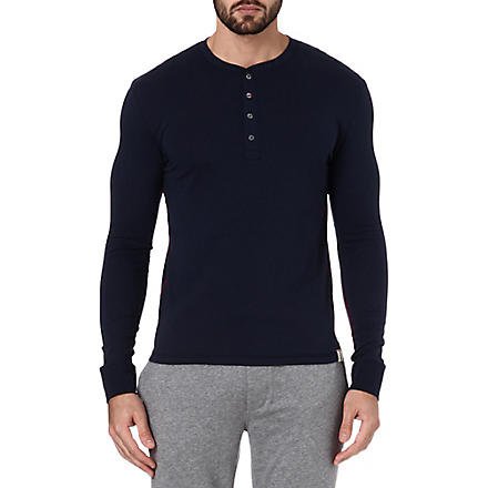 PAUL SMITH Henley cotton top (Navy