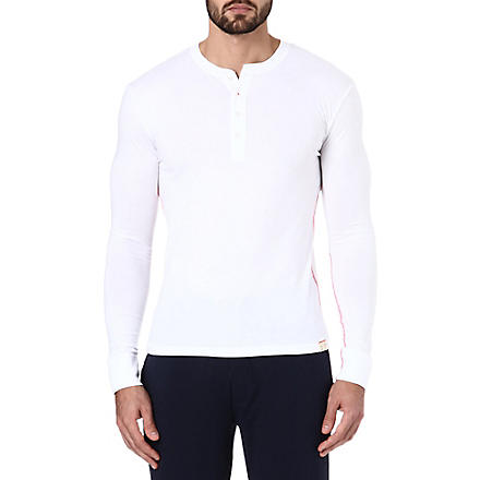 PAUL SMITH Henley cotton top (White
