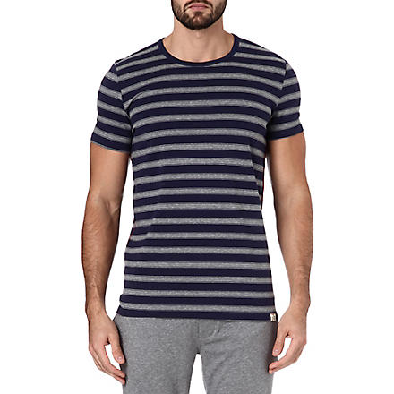 PAUL SMITH Contrast bar striped t-shirt (Navy