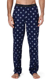 PAUL SMITH Striped polka-dot cotton pyjama bottoms