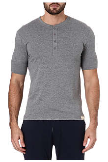 PAUL SMITH Henley cotton t-shirt