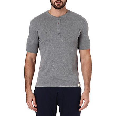 PAUL SMITH Henley cotton t-shirt (Grey