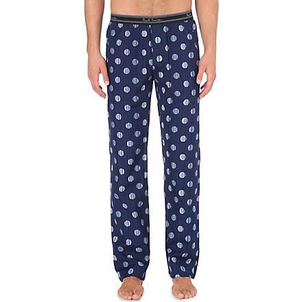 PAUL SMITH Striped polka-dot pyjama trousers (Navy