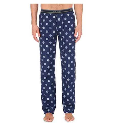 PAUL SMITH Striped polka-dot pyjama trousers (Navy