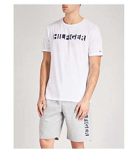 TOMMY HILFIGER Logo-print jersey lounge shorts (Lt+grey