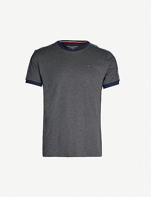TOMMY HILFIGER Tape detail cotton-jersey T-shirt 8a6e9ea5db7