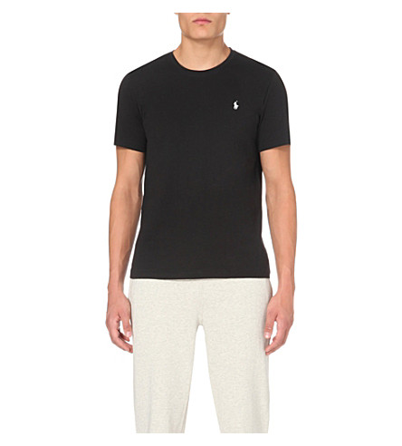 POLO RALPH LAUREN Classic cotton-jersey t-shirt (Black