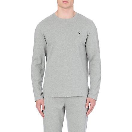 RALPH LAUREN Crew–neck top (Grey