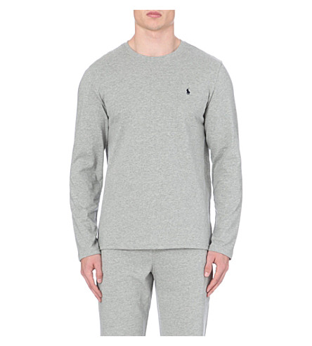 POLO RALPH LAUREN Crew–neck top (Grey