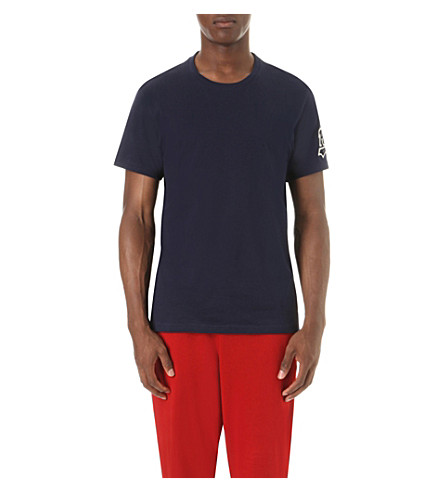 POLO RALPH LAUREN Embroidered-logo cotton-jersey t-shirt (Cruise+navy