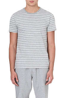 RALPH LAUREN Striped cotton pyjama top