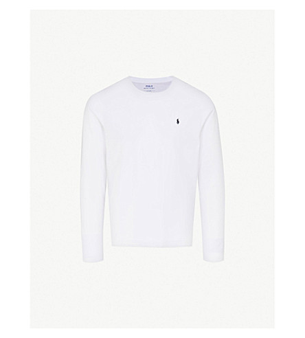 POLO RALPH LAUREN Long-sleeved cotton top (White