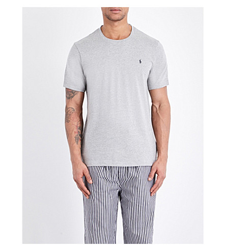 POLO RALPH LAUREN Crewneck cotton-jersey t-shirt (Grey