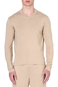 RALPH LAUREN V-neck stretch-modal t-shirt