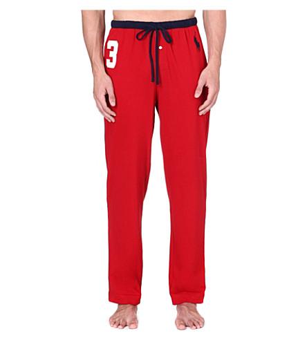 RALPH LAUREN Number 3 pyjama bottoms (Red/navy