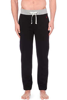 RALPH LAUREN Colour-blocked cotton-jersey pyjama bottoms