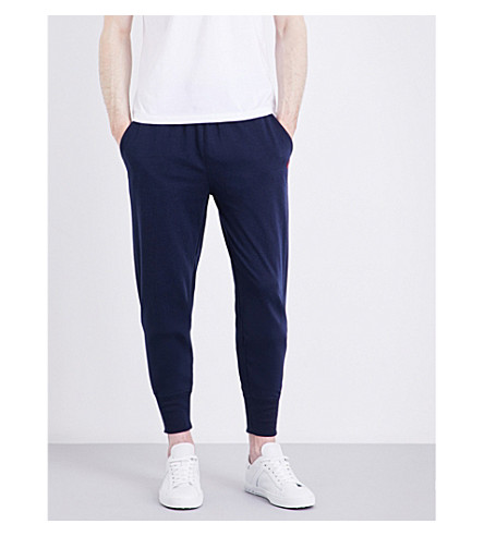 POLO RALPH LAUREN Skinny mid-rise jersey track pants (Navy