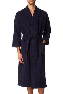 RALPH LAUREN Embroidered Pony dressing gown