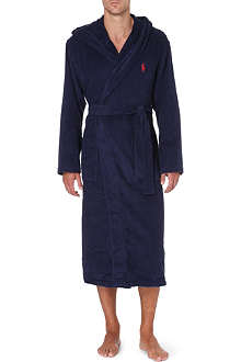 RALPH LAUREN Hooded cotton-terry robe