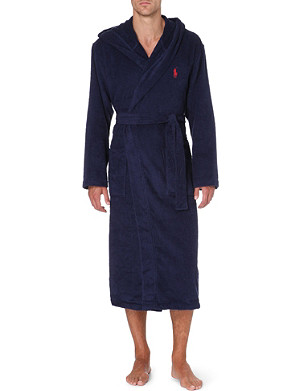 RALPH LAUREN Hooded cotton-terry robe