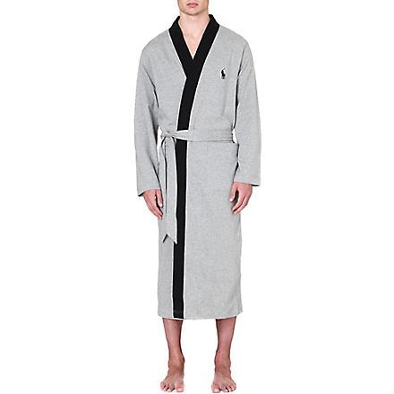 RALPH LAUREN Retro kimono robe (Grey/black