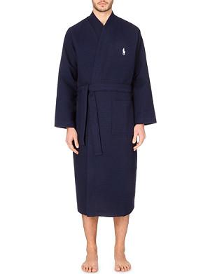 RALPH LAUREN Waffle kimono robe